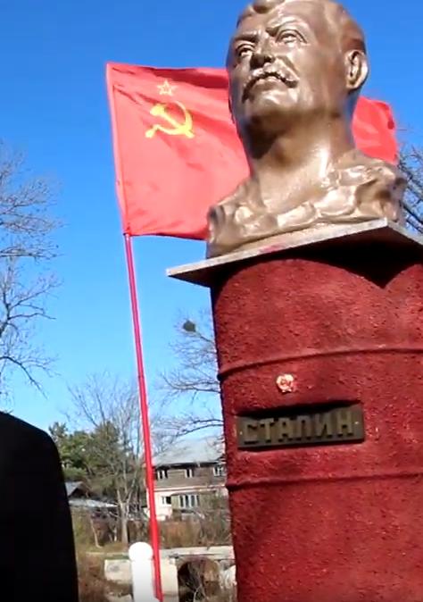 В Хабаровском крае появился памятник Сталину