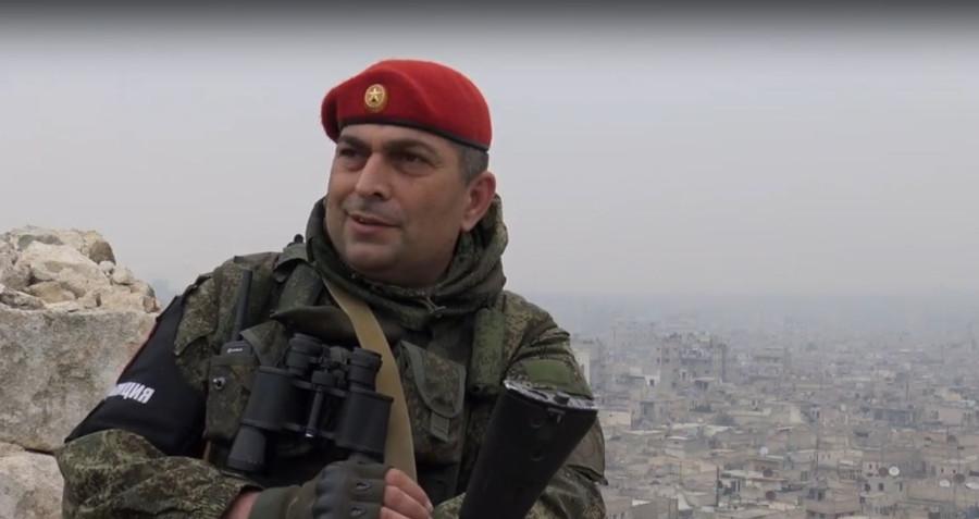 Работа военной полиции РФ в Алеппо