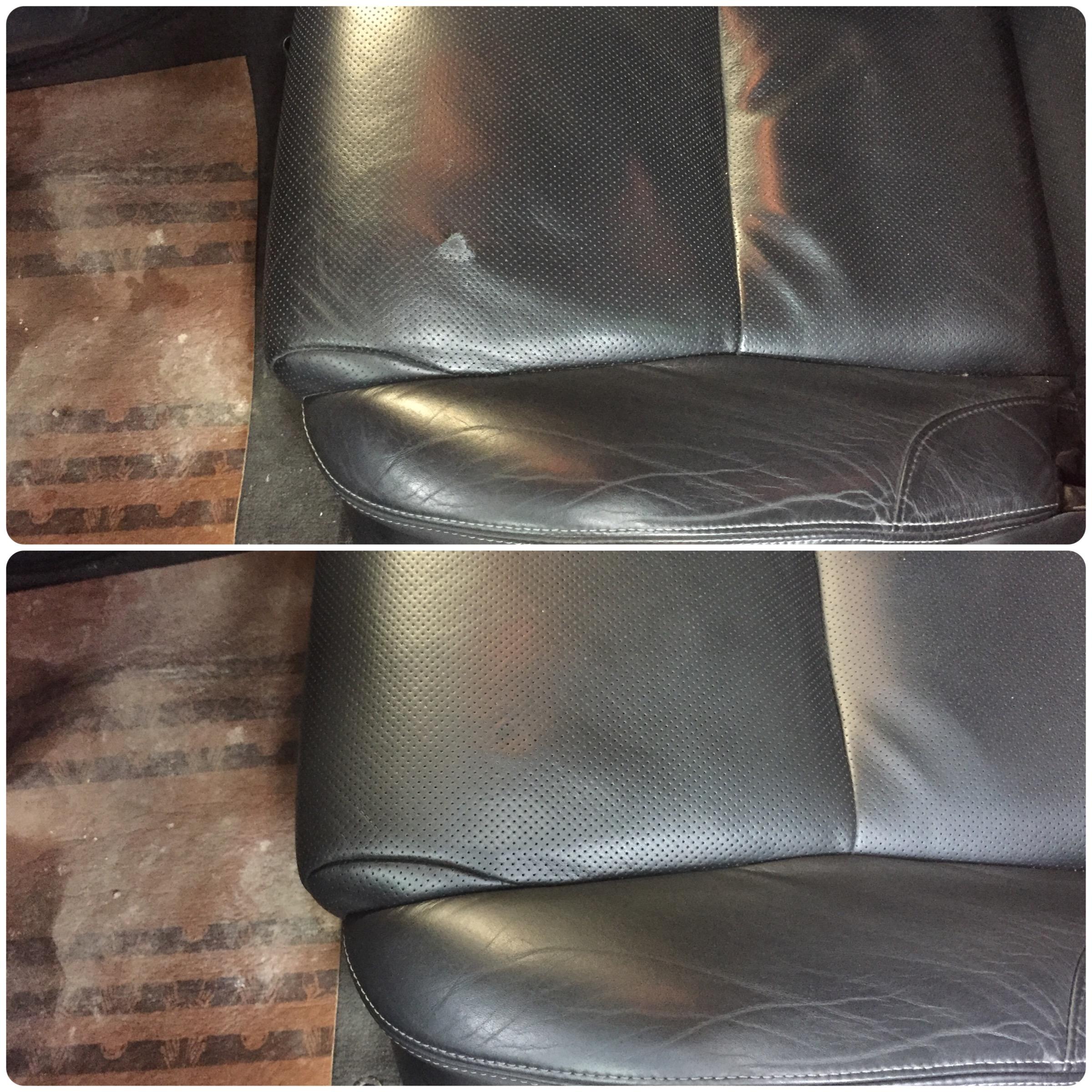 как отремонтировать порез на кожанном сиденье стула