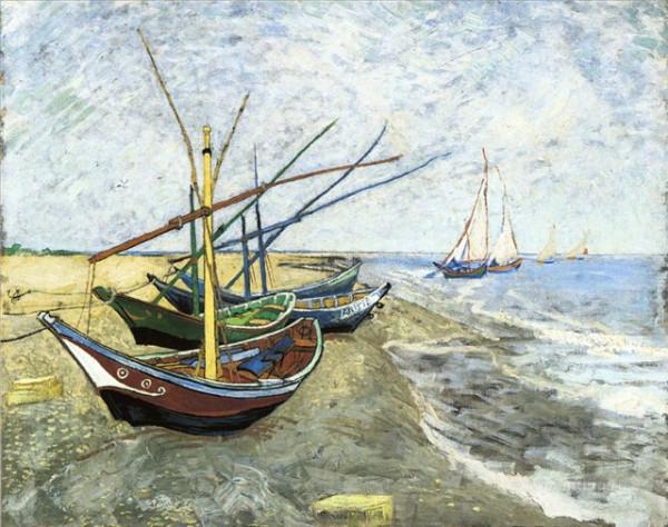Море в Сен -Мари. Ван Гог, Амстердам 1888г