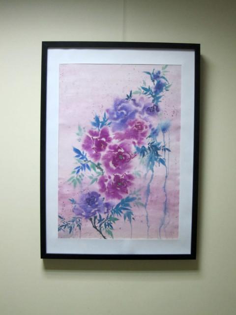 Елена Касьяненко, живопись У-Син, китайская живопись, розы под дождем