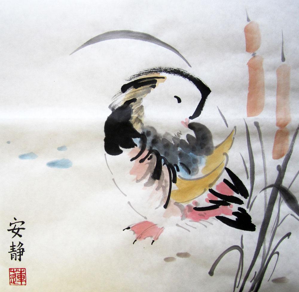 Мандаринка, китайская живопись, Елена Касьяненко