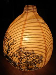 Лампа с китайским пейзажем. Елена Касьяненко, дизайн, китайская живопись, живопись У-Син, обучение живописи, мастер-классы