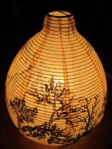 Лампа с китайским пейзажем
