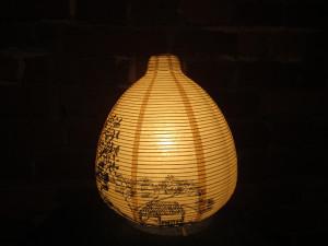 Настольная лампа с китайским пейзажем