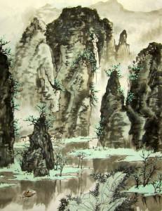 Река Ли. Елена Касьяненко, китайская живопись