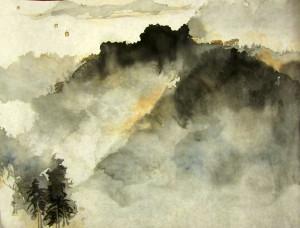 Пейзаж в свободном стиле. Елена Касьяненко, китайская живопись