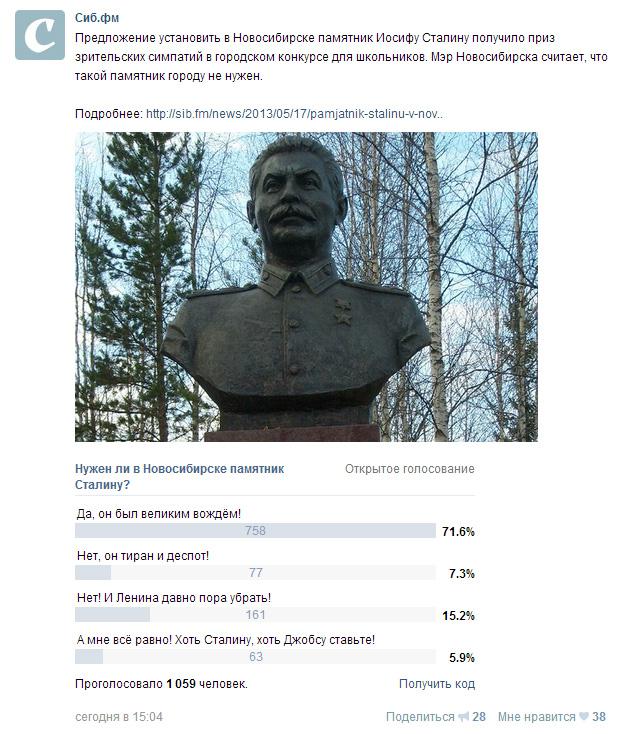 Про популярность Сталина