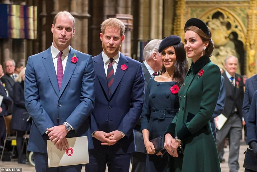 Принц Уильям и Герцогиня Кэтрин навестили Герцога и Герцогиню Сассекских во