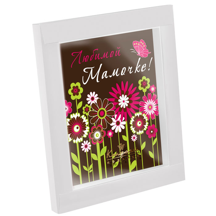шоколадная открытка маме