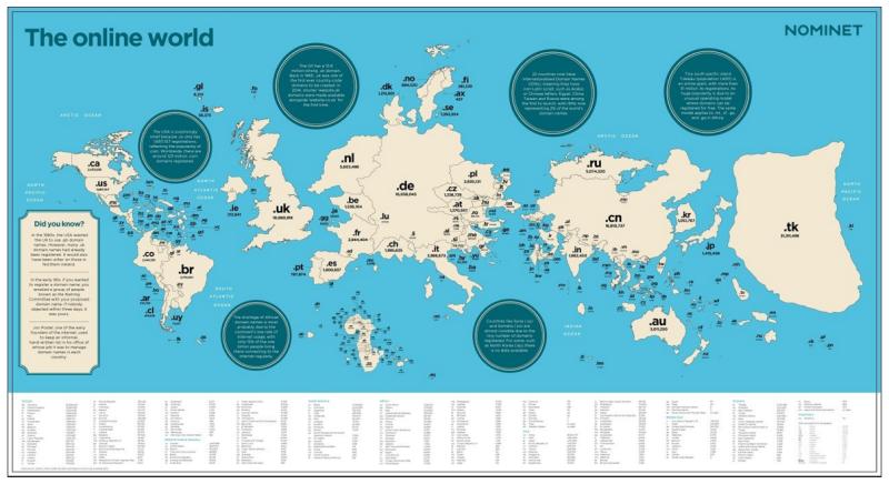 Карта Всемирного Интернета