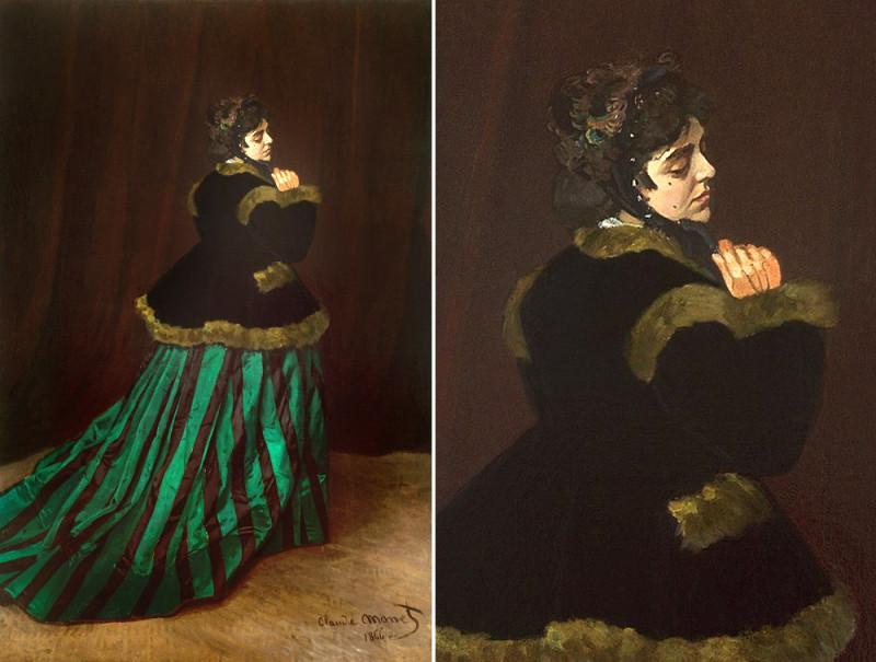 """Клод Моне, """"Дама в зелёном"""", 1866"""