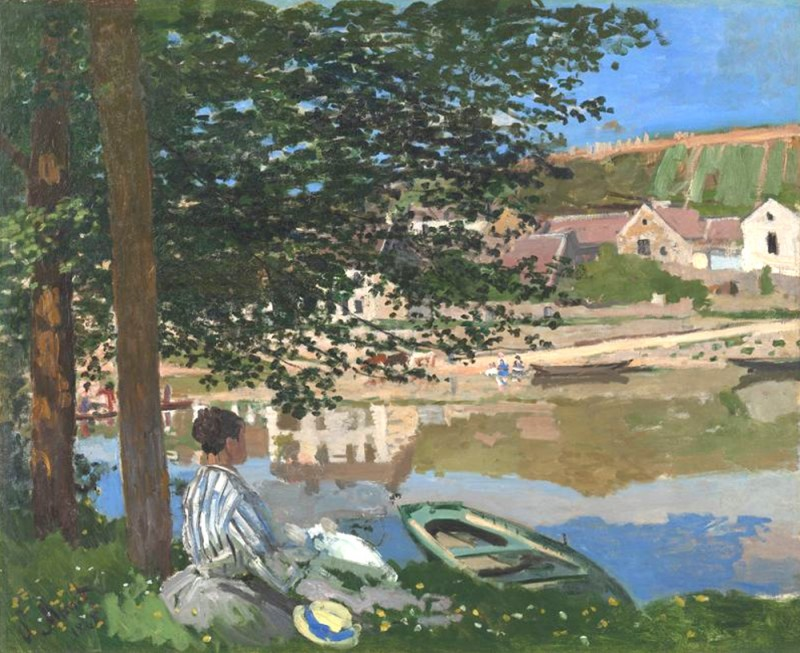 "Claude Monet, ""On the Bank of the Seine, Bennecourt"", 1868, Oil on canvas, 81.5 x 100.7 cm, Art Institute of Chicago"