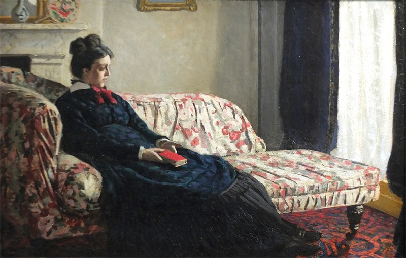 "Claude Monet, ""Méditation. Madame Monet au canapé, Camille Doncieux"", 1870"