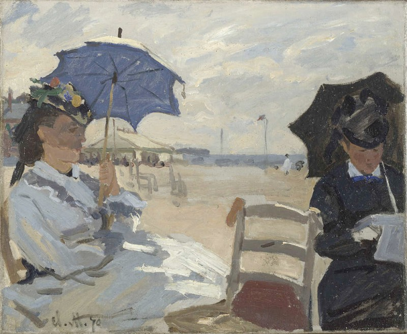 "Claude Monet, ""Beach in Trouville"", 1870, The National Gallery, London"