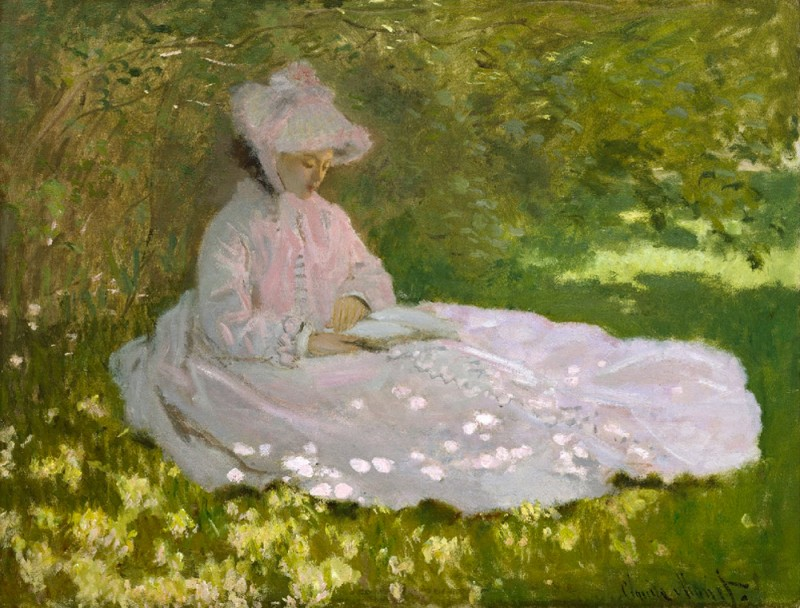 "Claude Monet, ""Springtime"", 1872, sold to Paul Durand-Ruel for The Walters Art Museum in Baltimore."