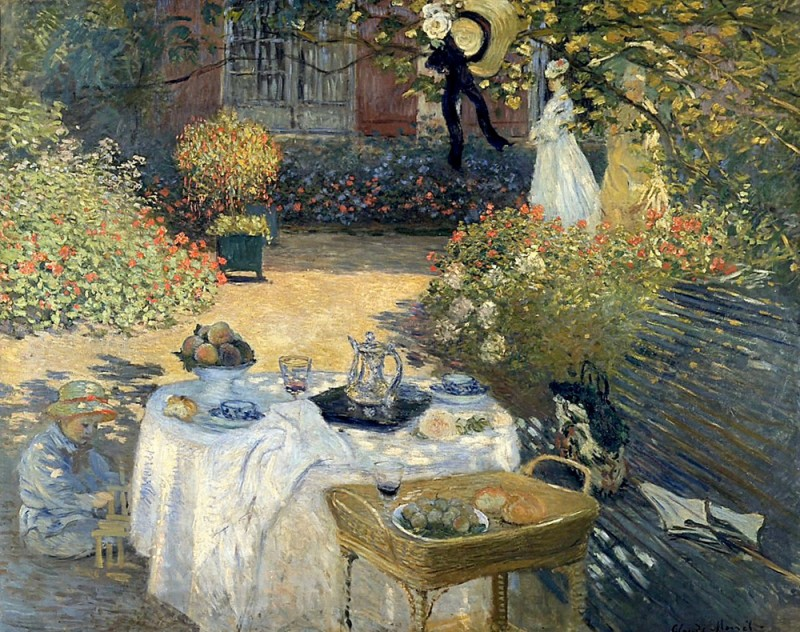 "Claude Monet ""The Luncheon"", 1873, Musée d'Orsay, Paris"