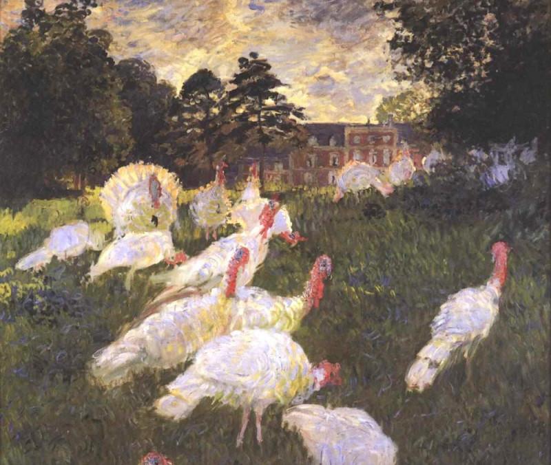 """Фрагмент работы Клода Моне """"The Turkeys"""", которую он написал в 1876 году в имении семьи Ошеде."""