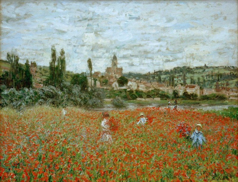 "Claude Monet, ""Poppy Field near Vetheuil"", 1879"
