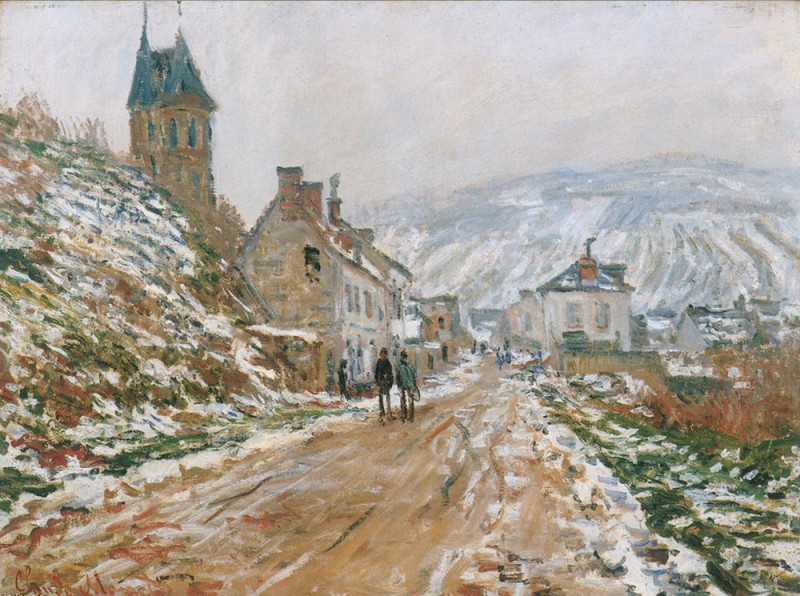 """Клод Моне, """"Дорога в Ветёй"""", 1879г."""