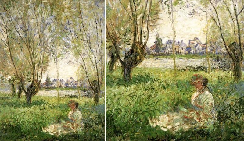 "Claude Monet, ""Woman Sitting under the Willows"", 1880 Одна из немногих картин, на которой изображена Алиса."