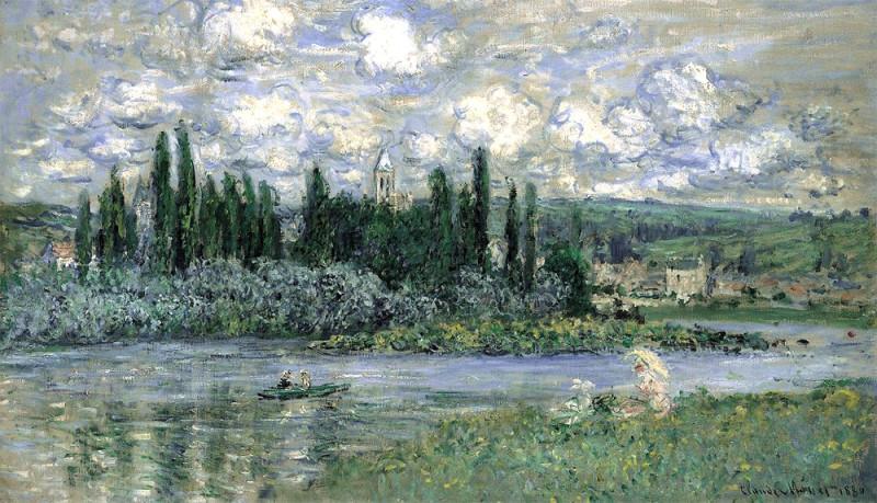 """Клод Моне, """"Вид на Ветёй со стороны Сены"""", 1880"""
