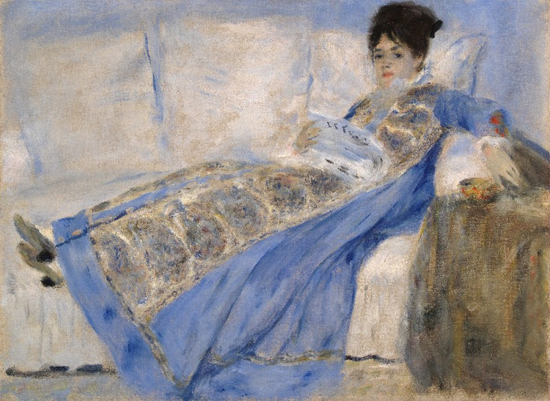 "Pierre-Auguste Renoir, ""Portrait of Madame Claude Monet"", ca. 1872-74"