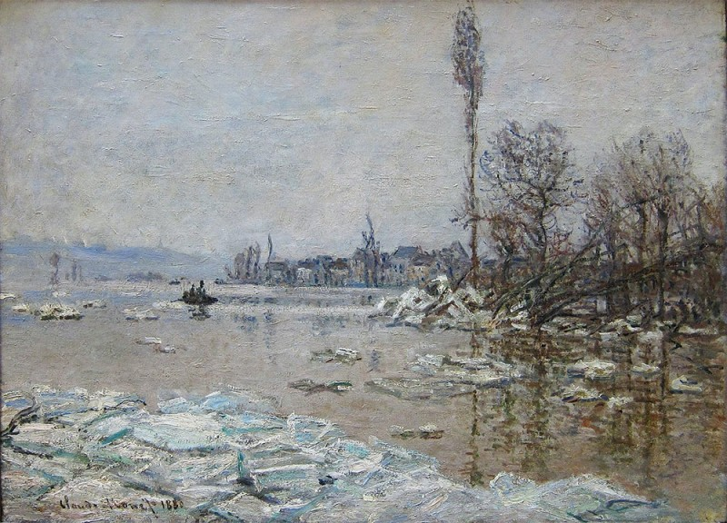"Claude Monet, ""Debacle at Vétheuil, View of Lavacourt"", 1880"
