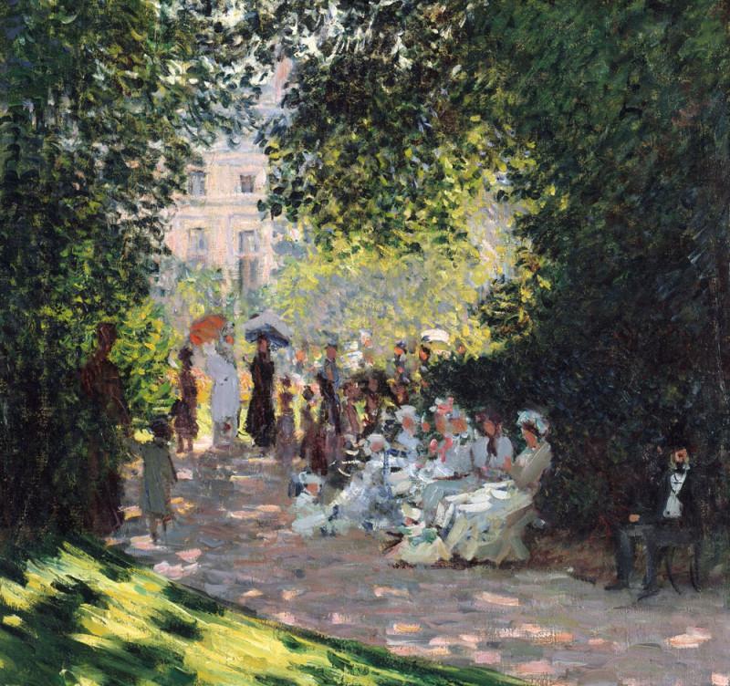 "Claude Monet, ""The Parc Monceau"", 1878 Деталь большой работы."