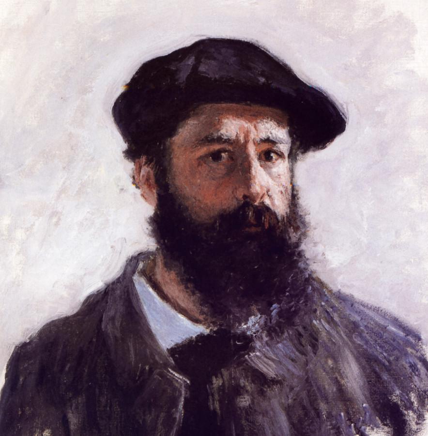 """Клод Моне, фрагмент работы """"Автопортрет в берете"""", 1886 Клоду Моне здесь 46 лет."""