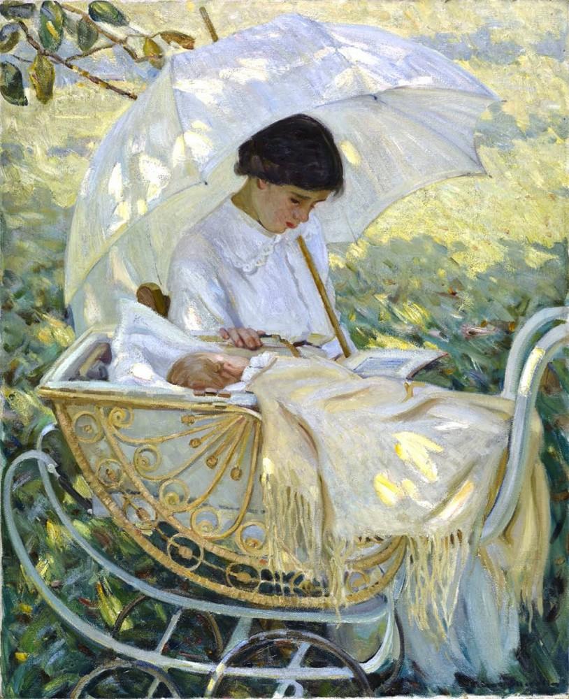 """Хелен Мэк Никол (1879-1915), """"В тени дерева"""", около 1910г."""