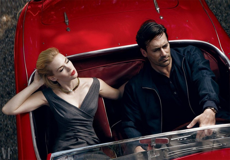 Jon Hamm and January Jones, photographed by Annie Leibovitz for Vanity Fair, 2009.