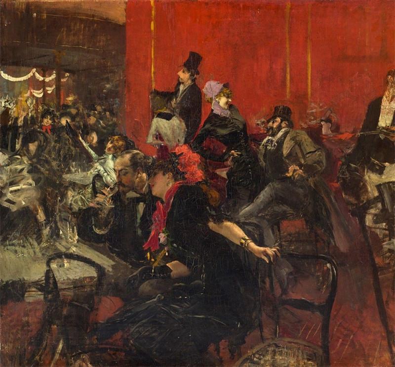 """Giovanni Boldini, """"Scène de fête au Moulin rouge"""", 1889"""