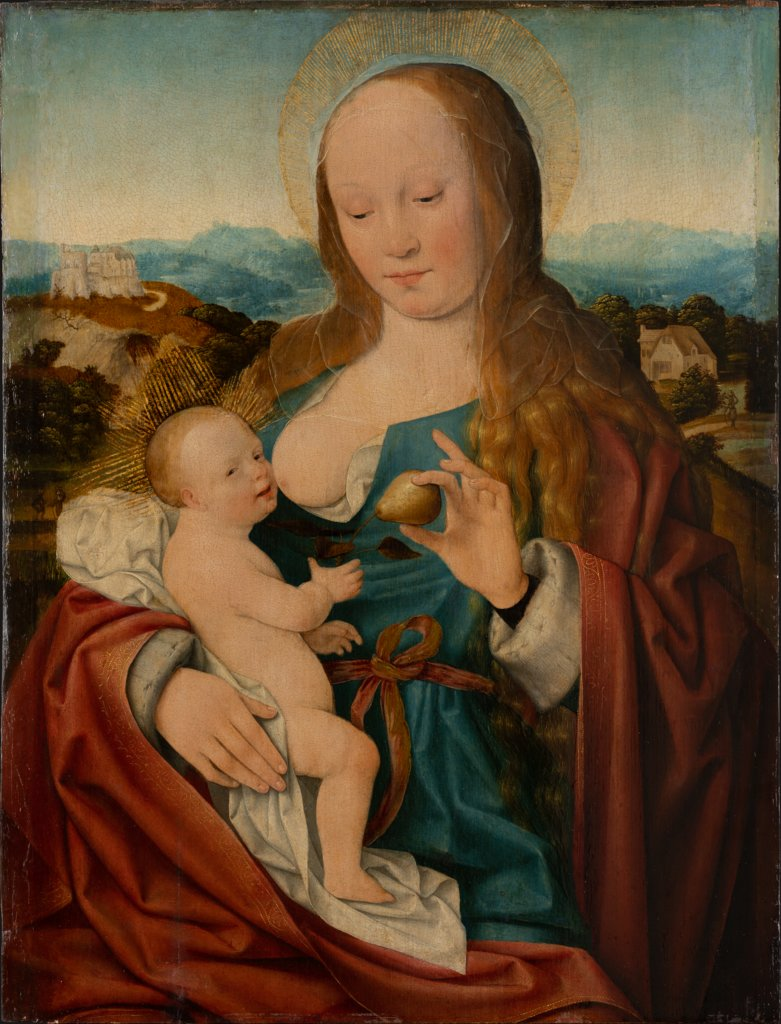 JOOS VAN CLEVE Madonna mit der Birne, ca. 1515