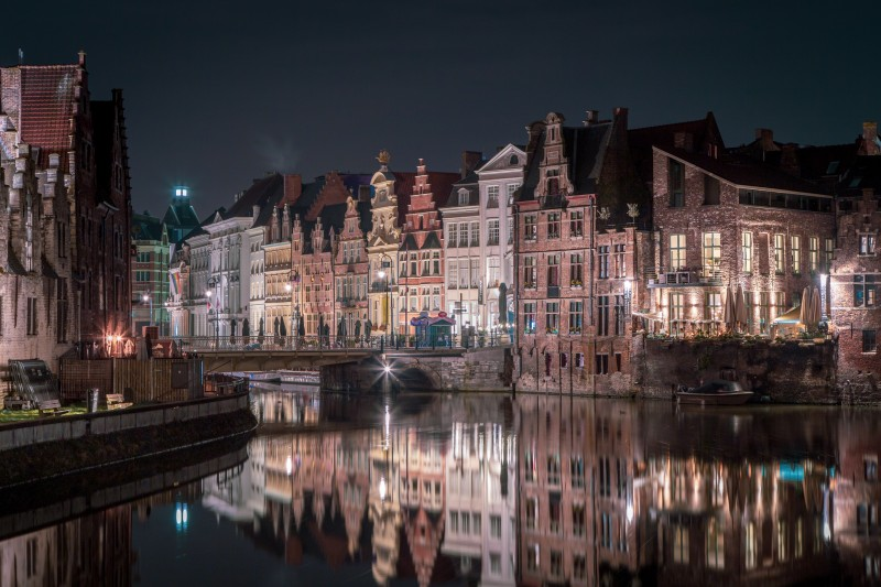 Ночной Гент. Photo by Azamat Esmurziyev on Unsplash