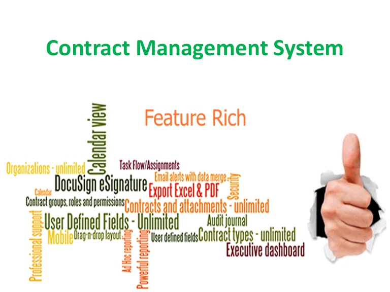 Contract Management System : Archives hosted contract management