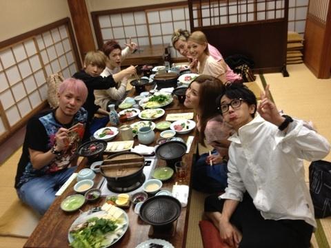 AAA eating dinner 2012