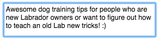 На рис. Классные советы по дрессировке собак для тех, кто недавно завёл лабрадора, и хочет научить старину лабрадора новым трюкам!