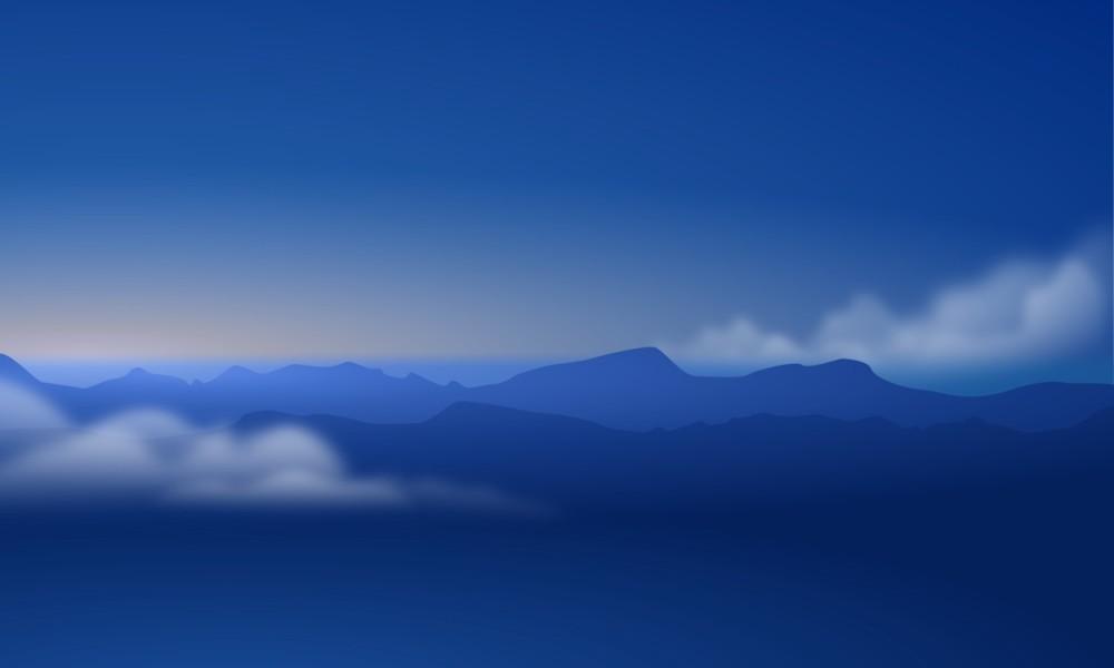 Рис.3 Синие горы