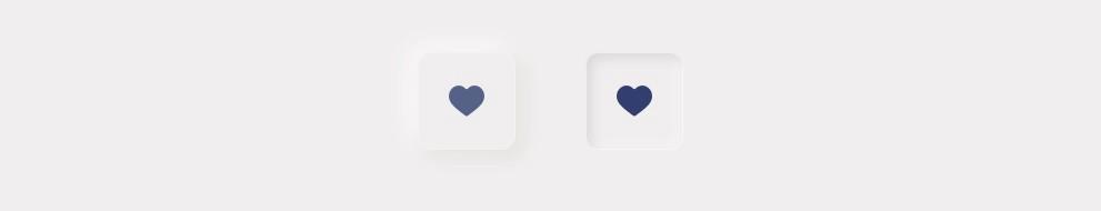 Кнопка в двух состояниях в неоморфизме