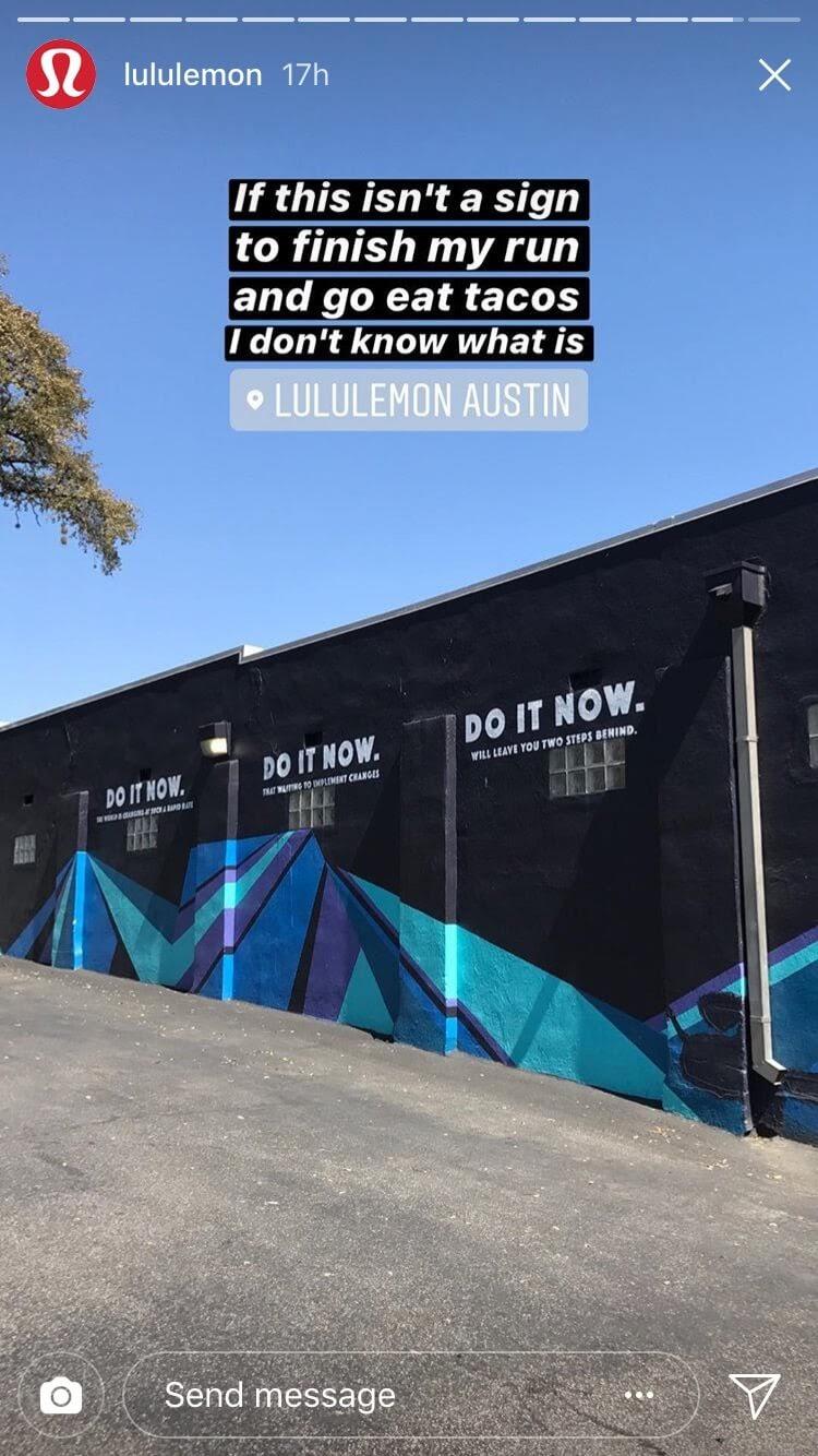 На рис. Если это не знак закончить мою пробежку и пойти поесть такос, я не знаю тогда, что это. Надпись на стене: «Сделай это сейчас».