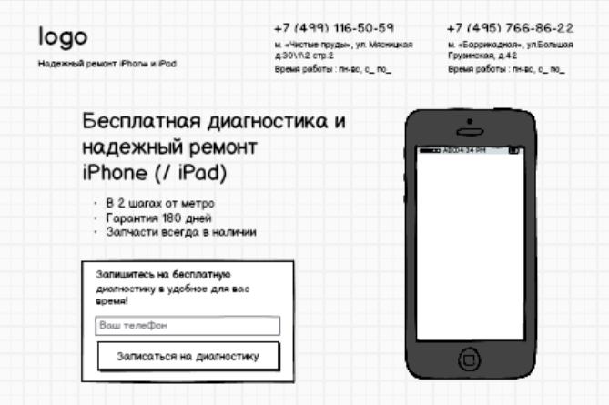 Рис.4. Пример первого экрана в доработанном мокапе