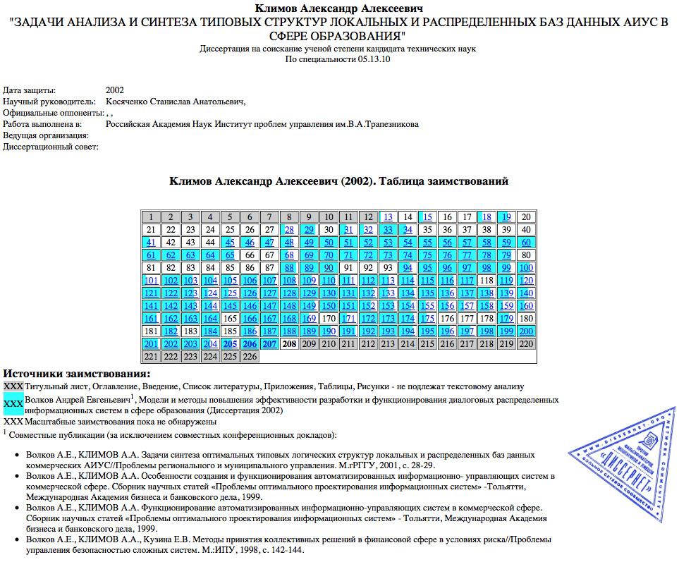 Klimov-table