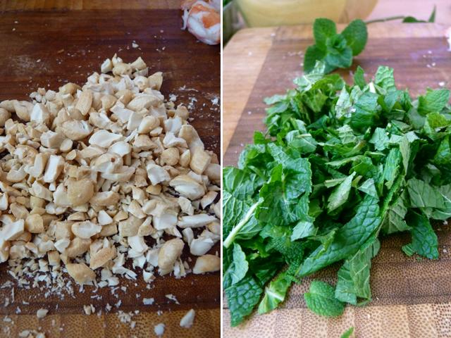 орехи и зелень