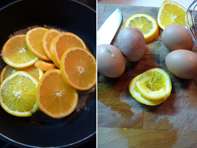 яйцо и апельсины