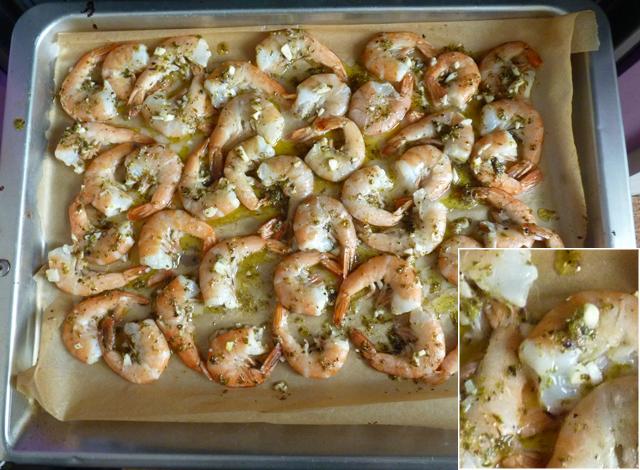 Креветки в духовке с сыром и чесноком рецепт