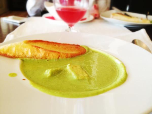 Крем-суп из зеленого горошка в Варадеро