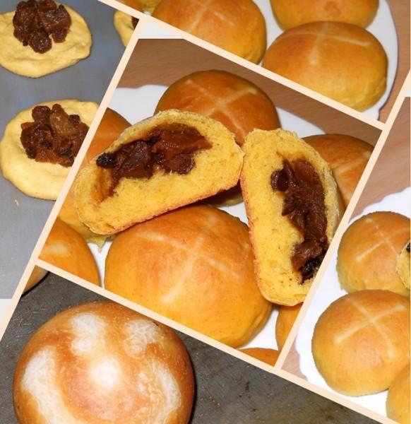 Английские пасхальные булочки hot cross buns