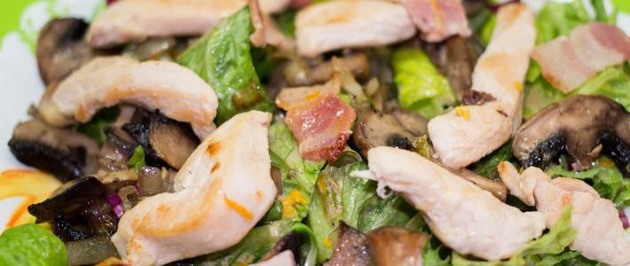 салат с грибами кальмарами и курицей