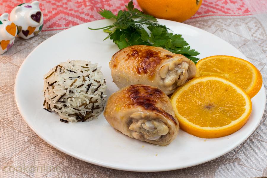 курица в апельсинах и рис